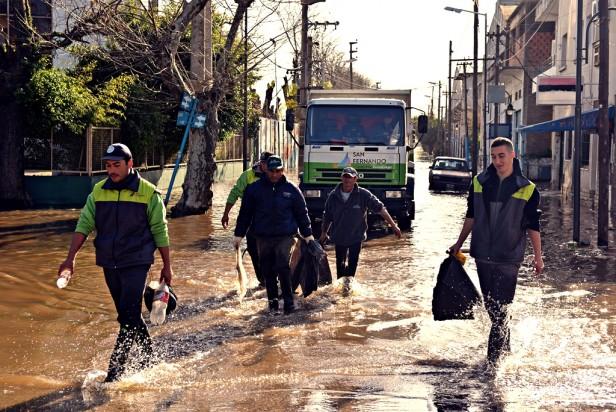 Defensa Civil de San Fernando realizó gran Operativo de Prevención debido al pronóstico de sudestada