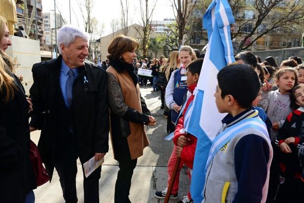 Luis Andreotti festejó el Día del Maestro en la Plaza Sarmiento