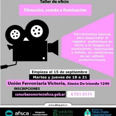 Taller de Oficios: Filmación, sonido e iluminación