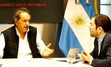 Matías Molle y Daniel Scioli trabajan en el nuevo San Fernando