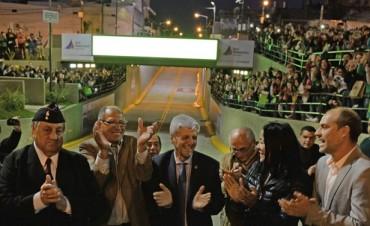 Luis Andreotti inauguró el Nuevo Túnel de la Avenida Avellaneda junto a miles de vecinos