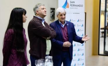 Andreotti visitó a personal de la salud en una capacitación sobre vacunación