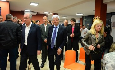 Luis Andreotti estuvo presente en la celebración del Día del Empleado de Comercio