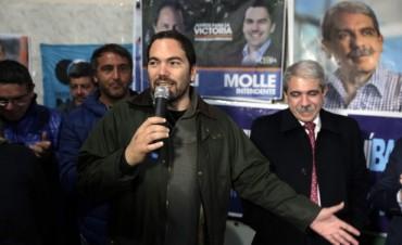 Aníbal Fernández junto a Matías Molle en San Fernando