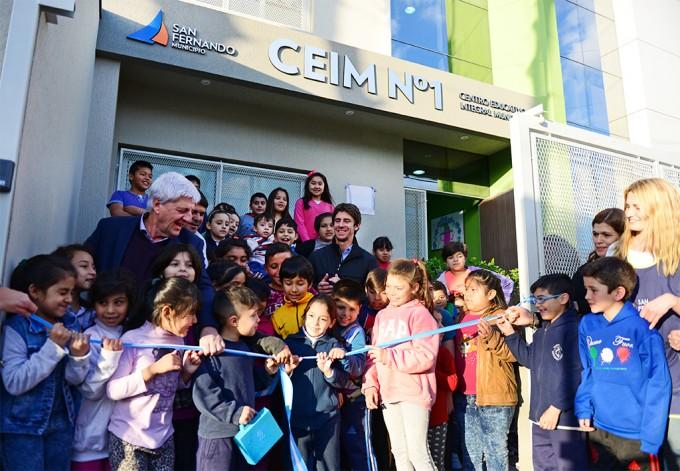 Andreotti inauguró un nuevo Centro Educativo para niños