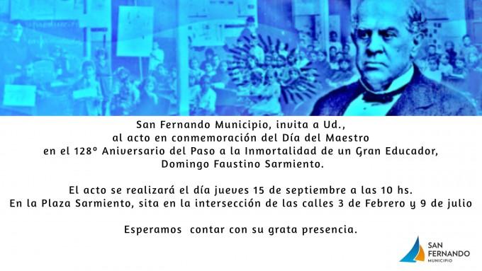 """San Fernando conmemora el """"Día del Maestro"""""""