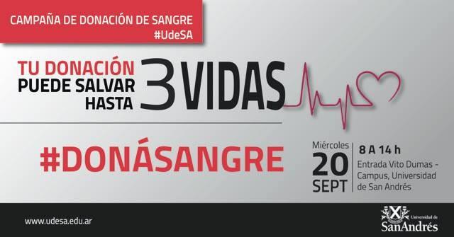 El Municipio acompaña a la campaña de donación de sangre de UdeSA