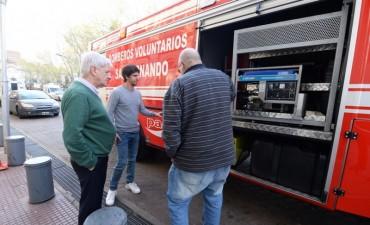 Los Bomberos Voluntarios de San Fernando incorporaron una nueva autobomba