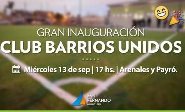 Este miércoles 13, San Fernando inaugurará el Club 'Barrios Unidos'