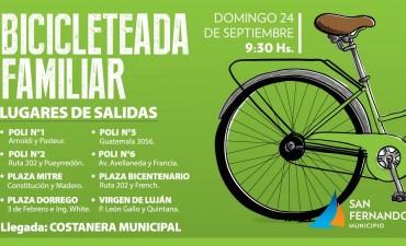 """Este finde, vuelve la """"Bicicleteada Familiar"""