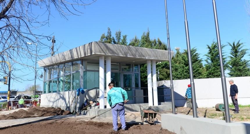 Avanza la renovación de Villa Jardín con una nueva Posta Policial, repavimentación y parquización