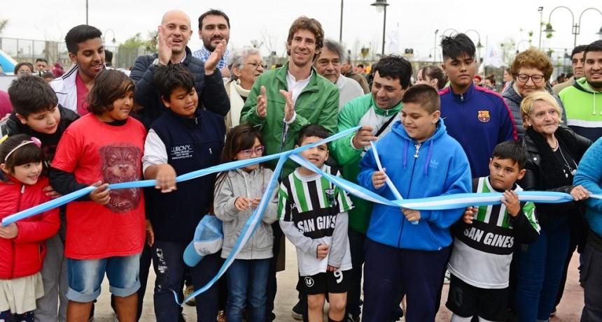 Andreotti inauguró la nueva Plaza San Ginés