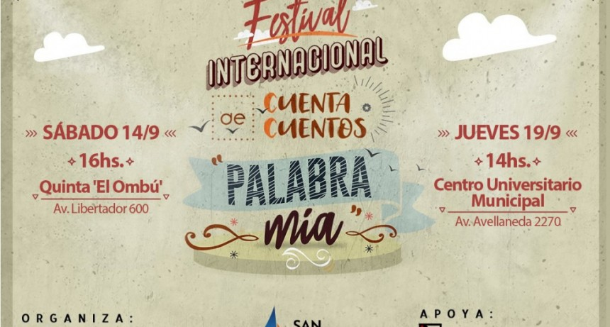 San Fernando es nuevamente sede del Festival Internacional de Cuenta Cuentos 'Palabra Mía'