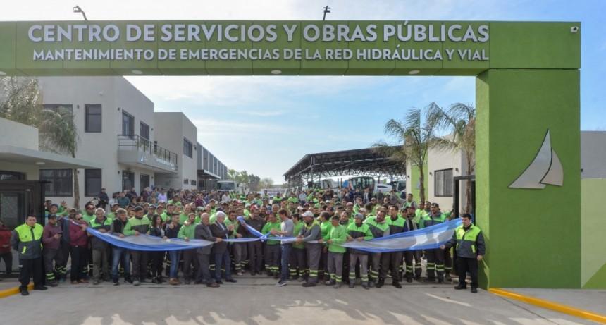 Andreotti inauguró un amplio y moderno Centro de Servicios y Obras Públicas