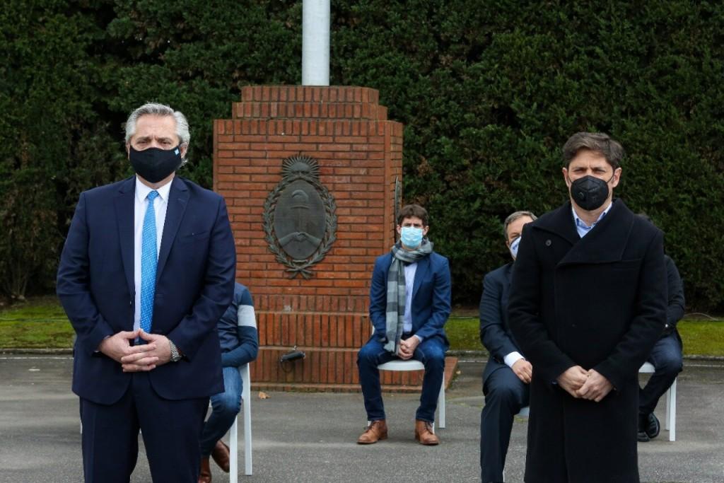 Juan Andreotti acompañó el lanzamiento del Plan de Fortalecimiento de Seguridad junto a Alberto Fernández
