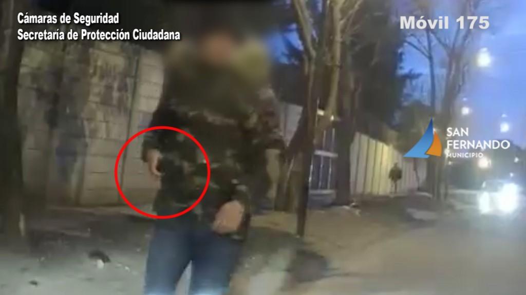 Protección Ciudadana de San Fernando detuvo a dos ladrones fuertemente armados