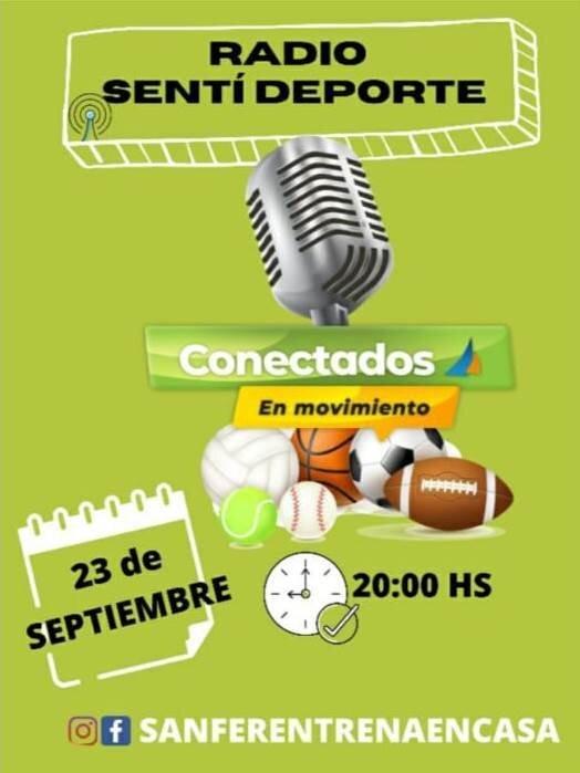 San Fernando lanza la radio ´Sentí Deporte´ para conectarse con más vecinos desde casa