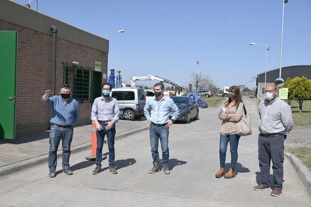 San Fernando y el Ministro de Infraestructura Provincial visitaron la Estación de Bombeo Nº 9 y proyectaron nuevas obras