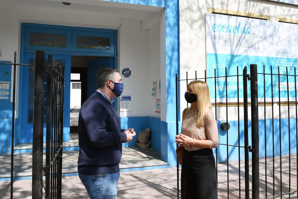 El Municipio de San Fernando acompañó la refacción del techo de la Escuela Provincial N°22