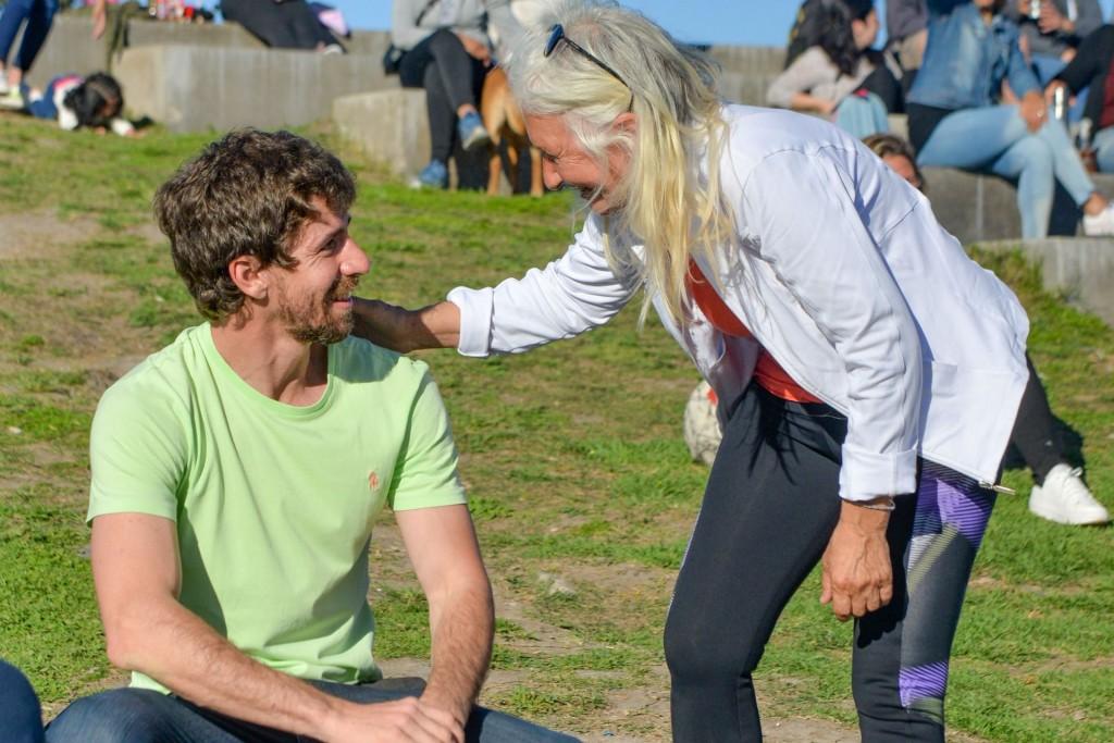 Juan Andreotti disfrutó junto a vecinos y vecinas de actividades deportivas y culturales en las plazas