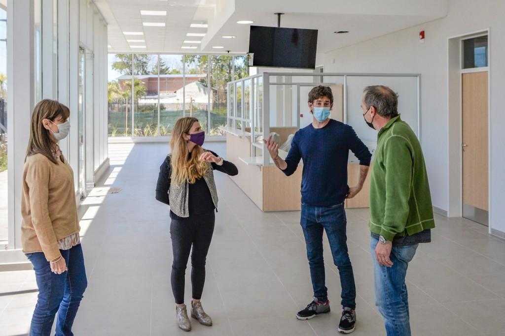 Juan Andreotti recorrió la última etapa de obra del nuevo Centro de Salud 31