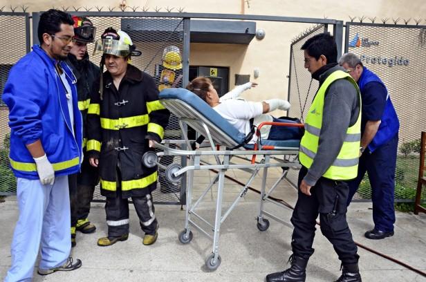 """Se realizó un """"Simulacro de evacuación de incendio"""" en el Taller Protegido"""