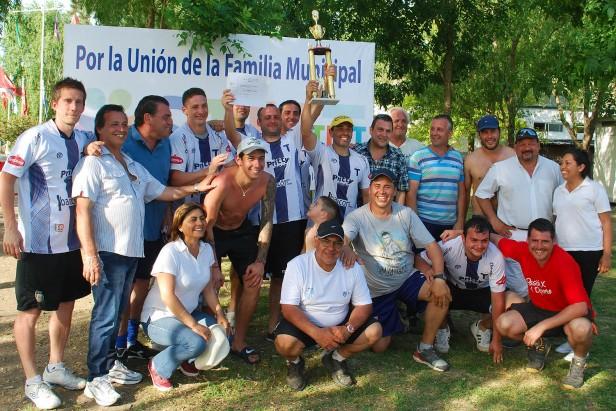 Trabajadores municipales participaron de la Copa 17 de octubre
