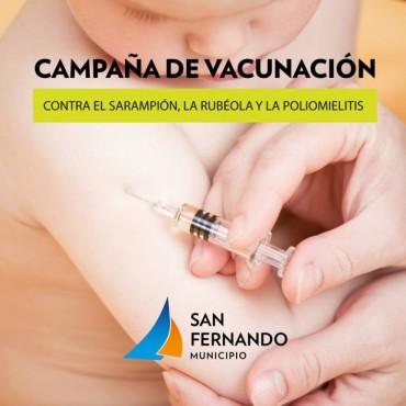 """Continúa en San Fernando la """"Campaña de Vacunación"""" contra el sarampión, la rubeola y la poliomielitis"""