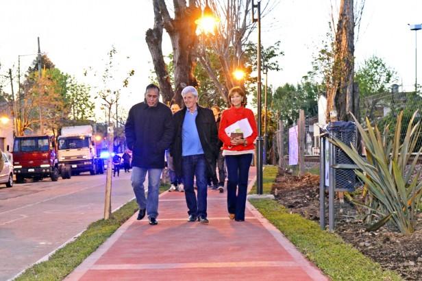 Andreotti inauguró un Paseo Aeróbico
