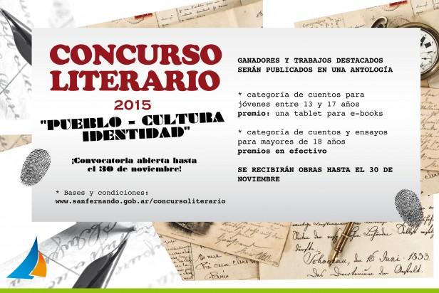 """Concurso Literario """"Pueblo-Cultura-Identidad"""", en San Fernando"""