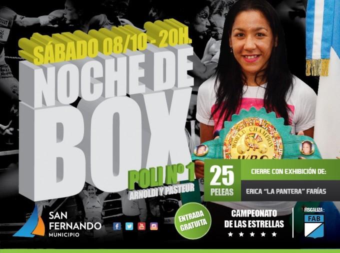 Gran exhibición de box en San Fernando con 'La Pantera' Farías