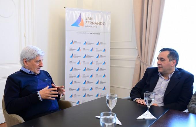 Andreotti recibió al Director General de Educación y Cultura de la Provincia