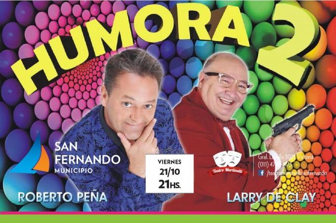 Roberto Peña y Larry de Clay,  este viernes en el Teatro Martinelli