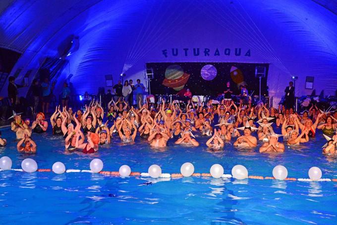 Los Polideportivos de San Fernando tuvieron dos noches con fiestas de Aquagym