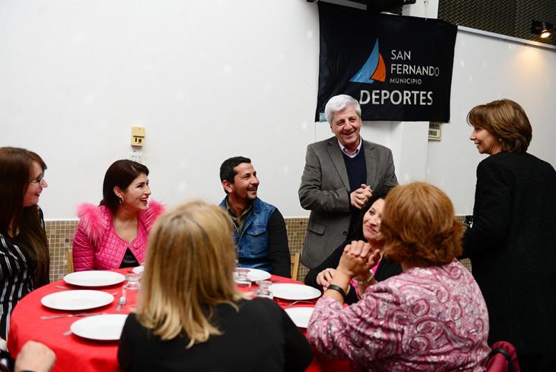 Luis y Alicia Andreotti compartieron un encuentro de camaradería en el Club La Guardia Vieja