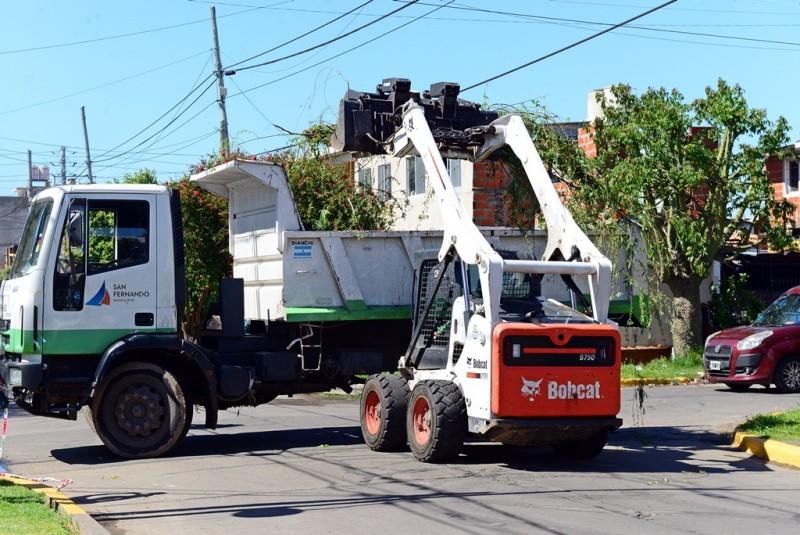 San Fernando asistió a los vecinos tras el fuerte temporal