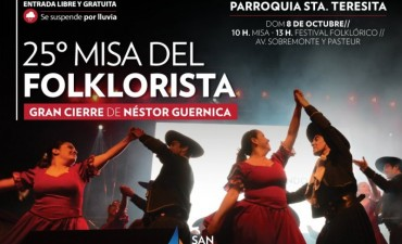 Llega la 25° Misa del Folklorista de San Fernando