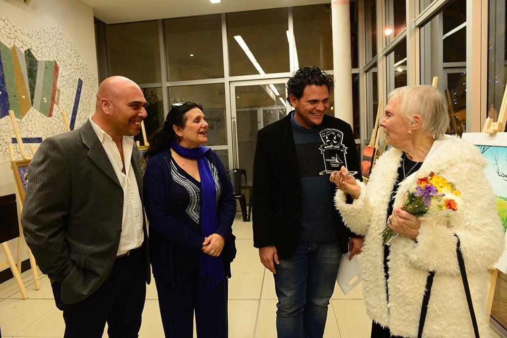 La artista sanfernandina María Eugenia Wippich fue homenajeada en el Teatro Martinelli
