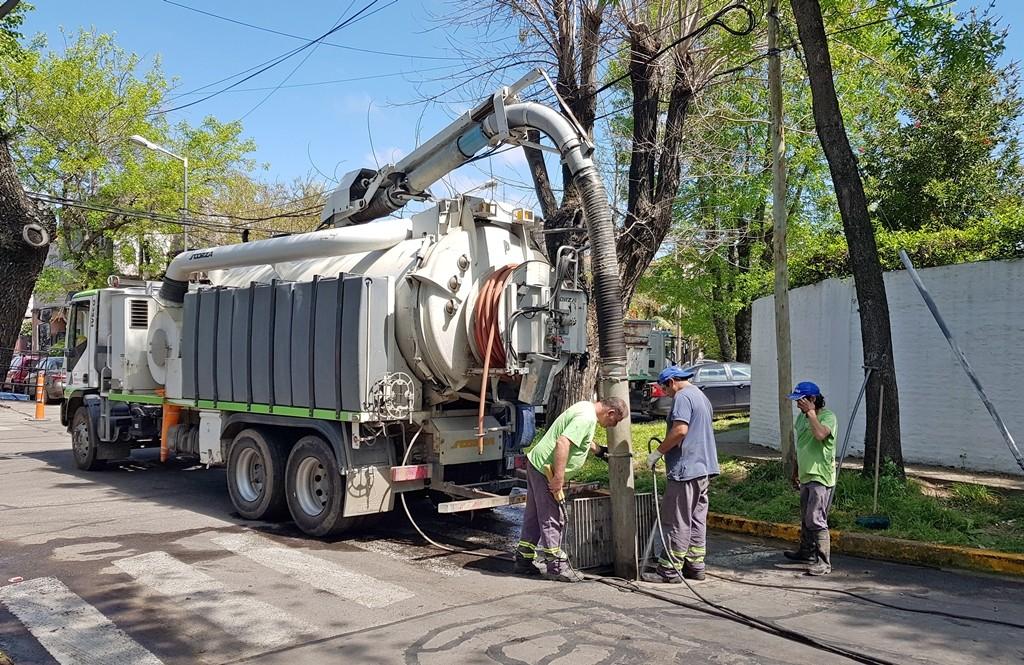 San Fernando realizó limpieza preventiva ante la alerta climática emitida por el SMN