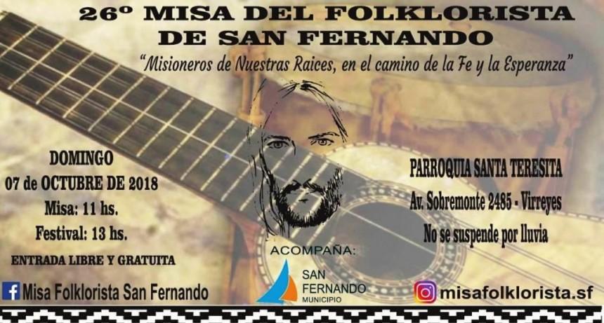 Llega la 26° Misa del Folklorista de San Fernando con el show de La Callejera