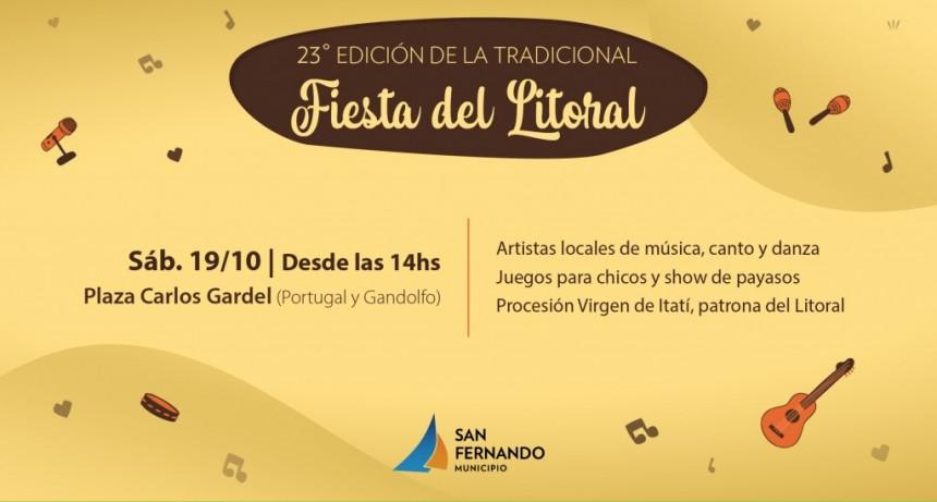 Este sábado, llega la 23° Fiesta del Litoral a San Fernando