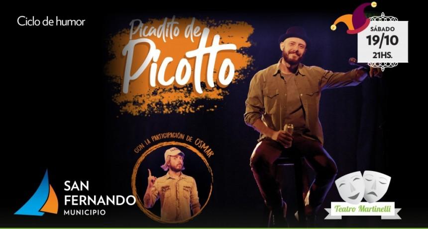 Este finde, Pablo Picotto llega al Teatro Martinelli con su nuevo show de stand up