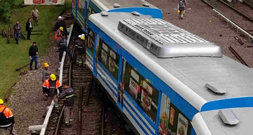 Descarriló un tren en la estación Tigre