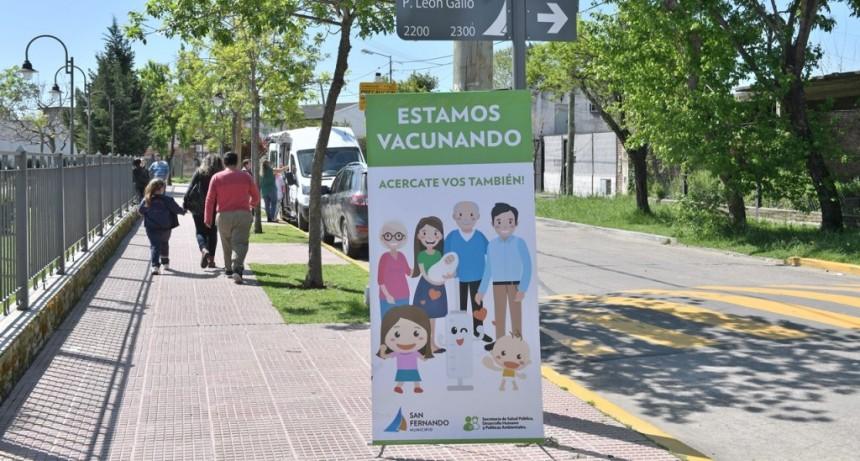 San Fernando refuerza la vacunación contra el sarampión en los barrios