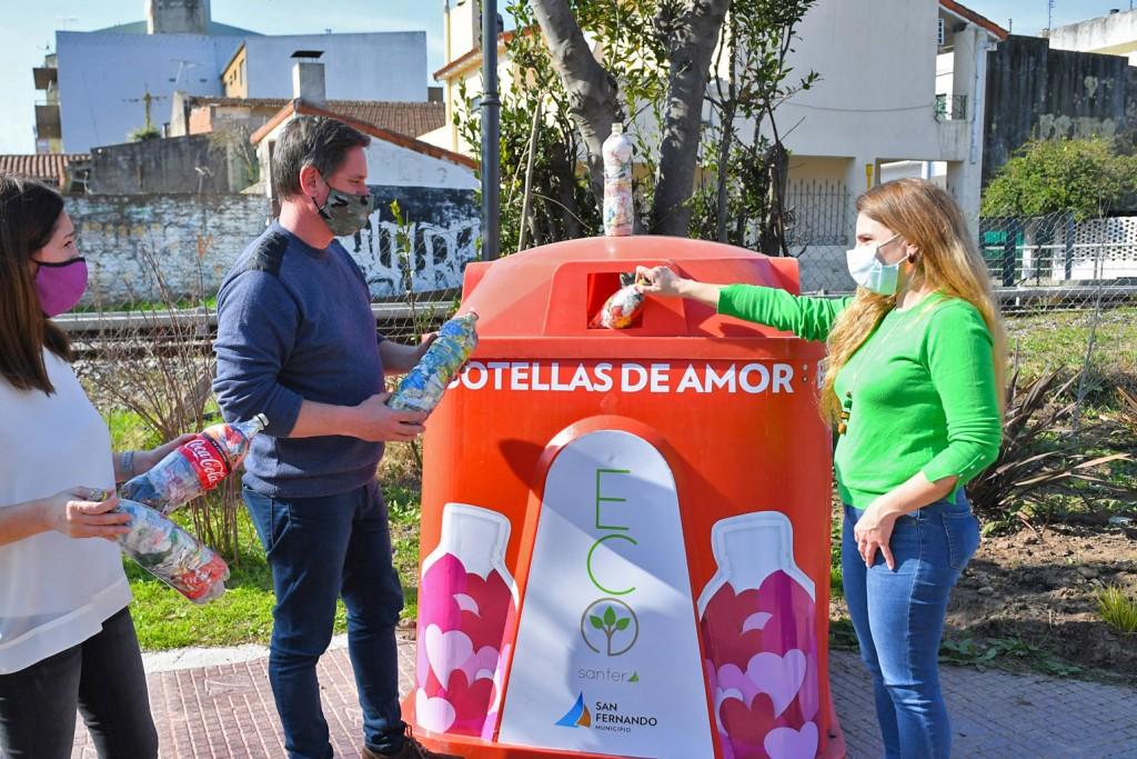 San Fernando ya recicló 8 mil kilos de ´Botellas de Amor´ con plásticos de un solo uso