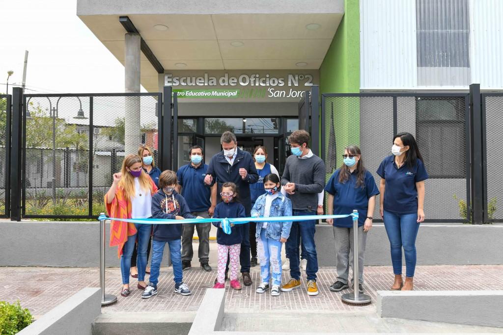 Andreotti y Massa inauguraron la Escuela de Oficios N°2 de San Fernando
