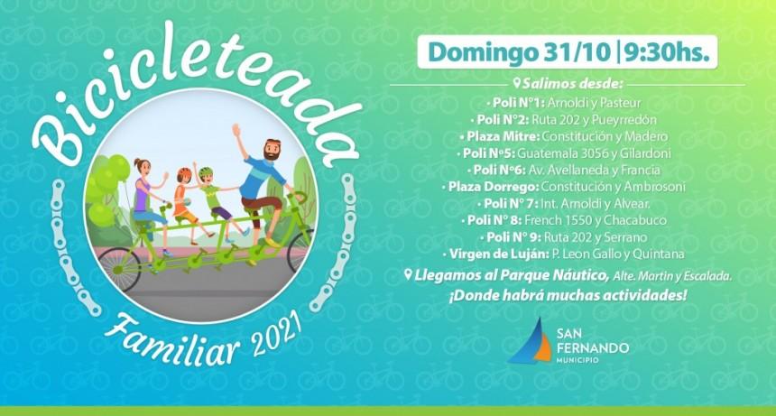 Se viene la Bicicleteada Familiar 2021 de San Fernando