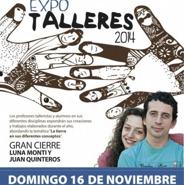 """""""Expo Talleres"""" de fin de año con muchas atracciones y la actuación de Juan Quintero y Luna Monti"""