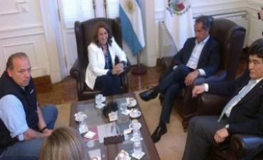 El candidato del Frente para la Victoria, Daniel Scioli, visitó la  ciudad de Rosario