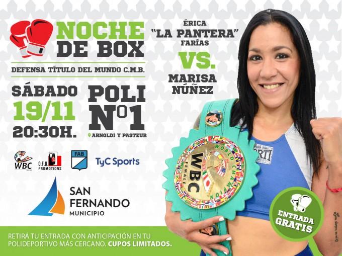 """Érica """"La Pantera"""" Farías defenderá en San Fernando su título de Campeona Mundial"""